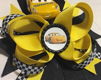 Cruz Ramirez Dinoco Cars 3 hair bow clip Lightning McQueen