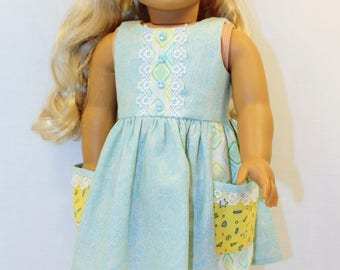 Sun Dress, 18 inch Doll Clothes, American Girl Doll Clothes