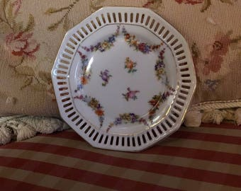 Country Germany Floral Swag Bouquet Bavaria Schumann Plate