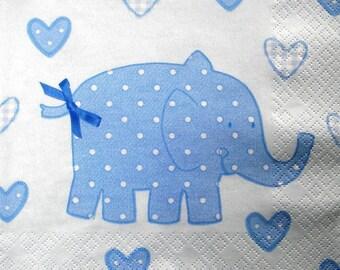 "Serviette ""Elephant bleu"""