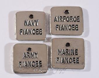 Military Fiancee Charms