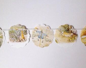 Peter Rabbit Paper Garland, Easter, Beatrix Potter, Banner, Eco, Bunting, SALE item