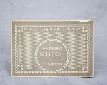 DMC Library Stitch Series - Vintage Embroidery Stitch Guide - Embroidery Patterns - Letter Fonts - Bicycle Design - Embroidery Alphabets