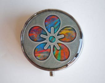 Pill box, Pill case, Flower pill box, Pill container, Jewelry box, Mint case, Pills, Flower
