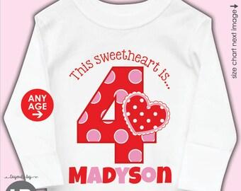 Valentine Birthday Shirt Or Bodysuit   ANY AGE   Personalized Valentine  Birthday Shirt   February Birthday