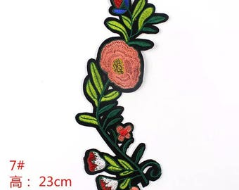 1 piece of colourful flower sew on or iron on patch/ badge
