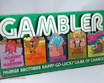 Gambler Game Parker Brothers 1977 COMPLETE (read description)