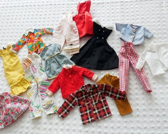 Small Lot of Vintage Barbie, Skipper, Maxie, Fashion Doll Clothes, 1950's to 1980's