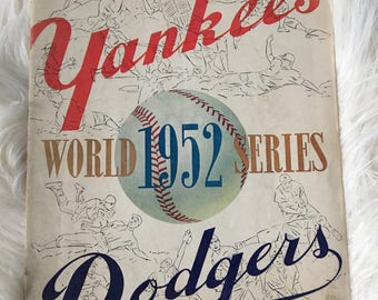 1952 Yankees Dodgers  World Series magazine Official Program