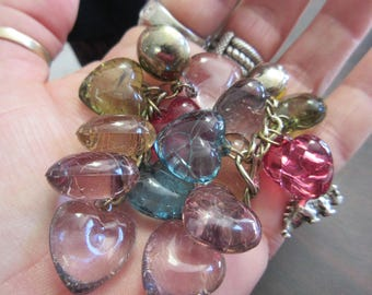 Big Lucite Dangle Heart Earrings