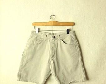 ON SALE Vintage Wrangler Cream White /Off White Denim Shorts/W28*