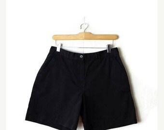 ON SALE Ralph Lauren Black Cotton Shorts from 90's/W29*