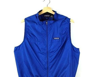 ON SALE Patagonia Blue Super light zip up Vest from 90's
