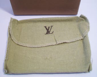 Brown Louis Vuitton Wallet Box Olive Green Dustbag High End Designer