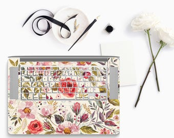 Morning Floral Medley - KeyCal Skin Decal & Ultra Thin Keyboard Protector for MacBook Pro Retina , Macbook Air , Macbook Pro 2016
