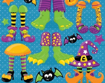 80% OFF SALE Halloween Feet clipart commercial use, vector graphics, digital clip art, digital images - CL699