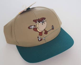 Vintage Looney Tunes 90's Deadstock Golf Snapback Hat VTG