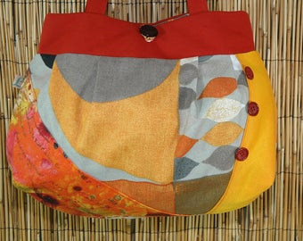Fabric Collection Lamia Patchwork Tote shoulder bag