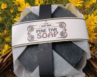 Pine Tar Soap with Neem | Itchy skin | Flakey Skin | Skin Conditions | Pioneer Soap | Curative Soap