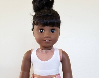 White Sport Bras for American Girl Dolls by The Glam Doll
