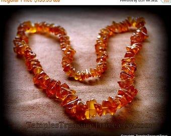 On Sale Baltic Rich Golden Honey Amber Beads Necklace 29 inch Graduated Baltic Honey Amber Beads Endless Estate Necklace 45.45 grams Circa 1