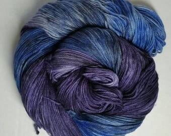 The Blue and the Black Hand Dyed Superwash Merino Sock Yarn