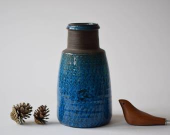 Kähler HAK Denmark - Tall Vase - turquoise & brown - Nils Kähler - Danish mid century pottery - collectible