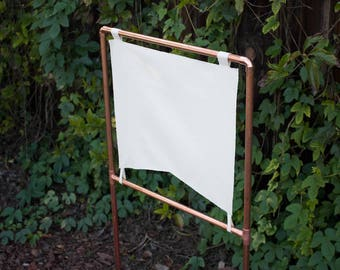 DIY Copper Sign and Stand, Blank Canvas sign with Copper Wedding Modern Wedding Metallic Wedding Sign Industrial Wedding