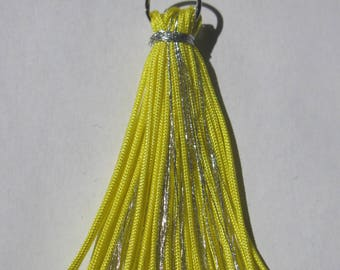 tassel color in shiny metallic thread and synthetic (E3)