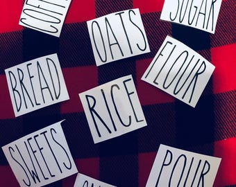 Large Rae Dunn Decals