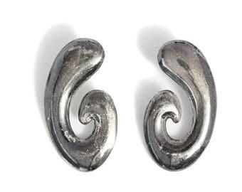 Artisan Vintage Silver Earrings Jewelry