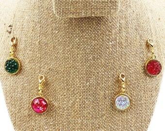 Planner Charm - Sparkle - Glitter Druzy Planner Jewelry, Accessories