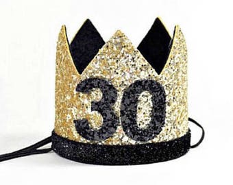 30th Birthday For Her || Dirty 30th Birthday || 30th Birthday Hat || Adult 30th Party Hat || Gold 30th Birthday Crown Adult