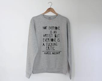 Marcel Duchamp Regular Unisex Sweatshirt Sweater Jumper