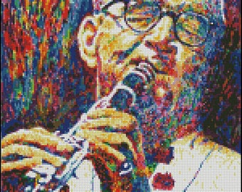 Benny Goodman by David Lloyd Glover - Counted Needle Point and Cross Stitch Chart Patterns