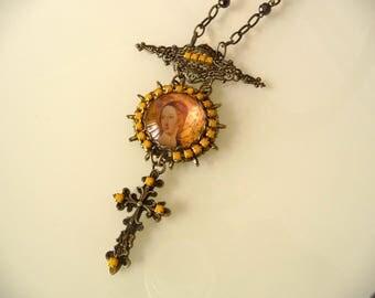 Chic art nouveau Necklace Symbol of the cross