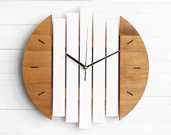 Modern Wall Clock, Wall Clock, White Clock, Round Wall Clock, Kitchen Clock