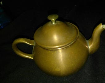 "Vintage TAGUS small copper tea kettle teapot 5"" tall"