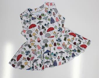 3T - Shroomy Peplum Top, Girls Sleeveless, Tank Top, Tunic, Circle Peplum, Girls Shirt
