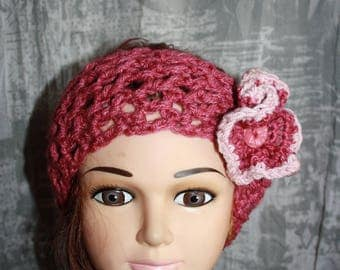 old headband pink wool