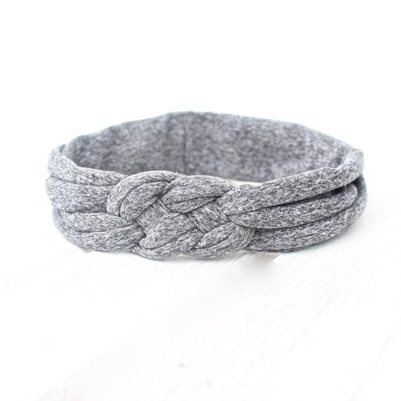 Solid Gray Knotted Headband, Gray Headband, Gray Cotton Knotted Headband, Infant Headband, Toddler Headband, Solid Color Headband