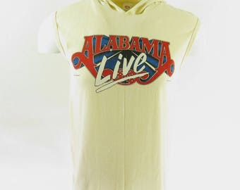 Vintage 80s Alabama Live Tank Top T-shirt L Deadstock Country Concert [H57X_0-7]