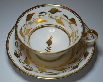 Vintage New Chelsea Staff English Bone China, Gold Tea Cup, Tea Party