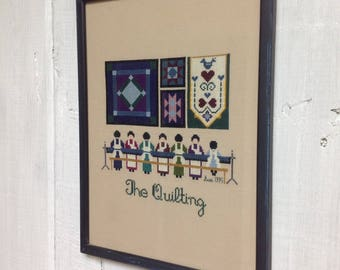 Amish Quilting Cross-stitch