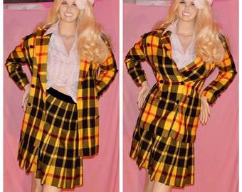 RARE CLUELESS CHER 90s plaid movie costume