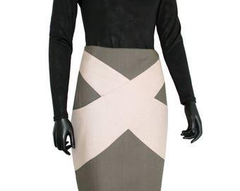 Tama at Chilia khaki cotton skirt