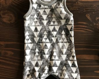 Tank Romper in Organic Cotton for Babies and Kids - You Choose Print