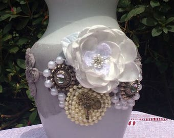 Shabby Chic Centerpiece|Shabby Chic Vase|Shabby Chic Floral|Rustic Shabby Centerpiece|Wedding Centerpiece|Floral Wedding|Vintage Wedding