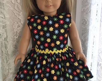 Flower Power dress for 18 inch dolls