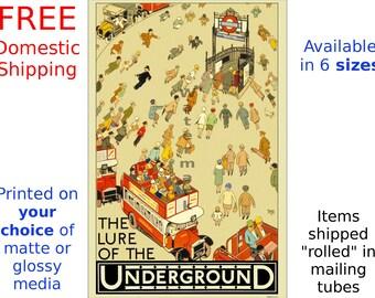 The Lure of the Underground - Vintage London Underground Poster (263651004)